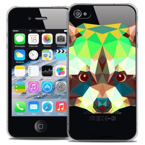 Carcasa Crystal Extra Fina iPhone 4/4S Polygon Animals Mapache