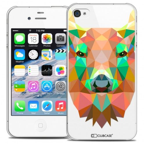 Carcasa Crystal Extra Fina iPhone 4/4S Polygon Animals Ciervo