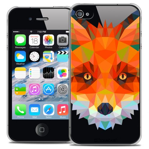Carcasa Crystal Extra Fina iPhone 4/4S Polygon Animals Zorro