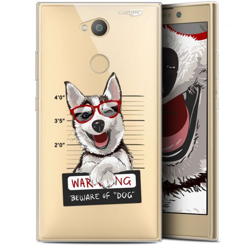 "Carcasa Gel Extra Fina Sony Xperia L2 (5.5"") Design Beware The Husky Dog"
