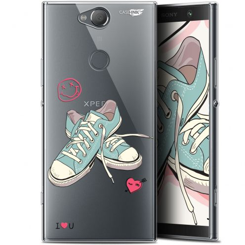 "Carcasa Gel Extra Fina Sony Xperia XA2 PLUS (6"") Design Mes Sneakers d'Amour"