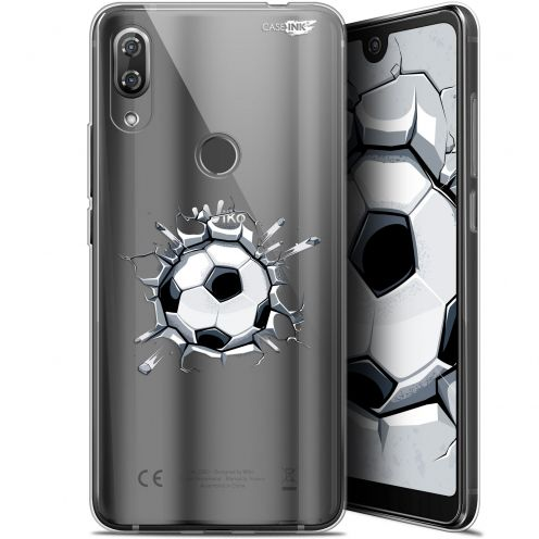 "Carcasa Gel Extra Fina Wiko View 2 Pro (6"") Design Le Balon de Foot"