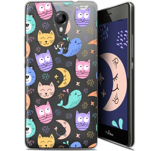 """Carcasa Gel Extra Fina Wiko Tommy (5"""") Design Chat Hibou"""