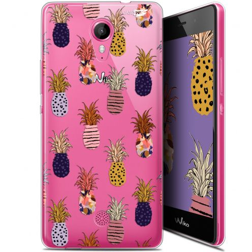 """Carcasa Gel Extra Fina Wiko Tommy (5"""") Design Ananas Gold"""