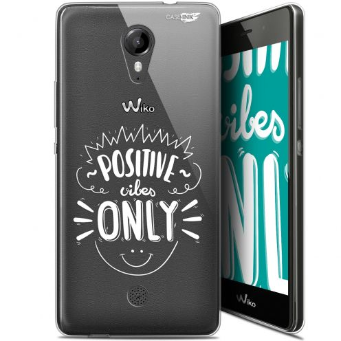 """Carcasa Gel Extra Fina Wiko Tommy (5"""") Design Positive Vibes Only"""