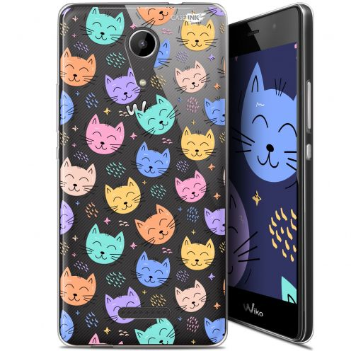 """Carcasa Gel Extra Fina Wiko Tommy 2 (5"""") Design Chat Dormant"""