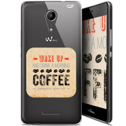 """Carcasa Gel Extra Fina Wiko Tommy 2 (5"""") Design Wake Up With Coffee"""