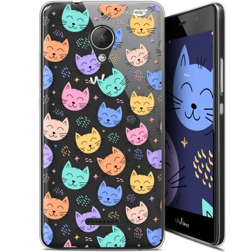 "Carcasa Gel Extra Fina Wiko Tommy 2 Plus (5.5"") Design Chat Dormant"
