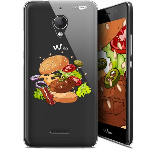 "Carcasa Gel Extra Fina Wiko Tommy 2 Plus (5.5"") Design Splash Burger"