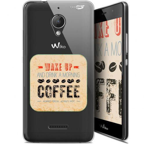 "Carcasa Gel Extra Fina Wiko Tommy 2 Plus (5.5"") Design Wake Up With Coffee"