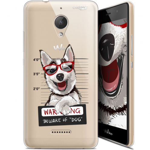 "Carcasa Gel Extra Fina Wiko Tommy 2 Plus (5.5"") Design Beware The Husky Dog"