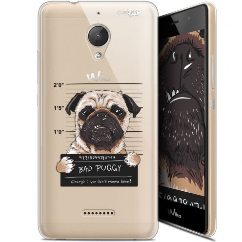 "Carcasa Gel Extra Fina Wiko Tommy 2 Plus (5.5"") Design Beware The Puggy Dog"