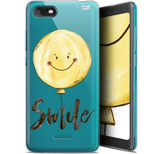 "Carcasa Gel Extra Fina Wiko Tommy 3 (5.45"") Design Smile Baloon"