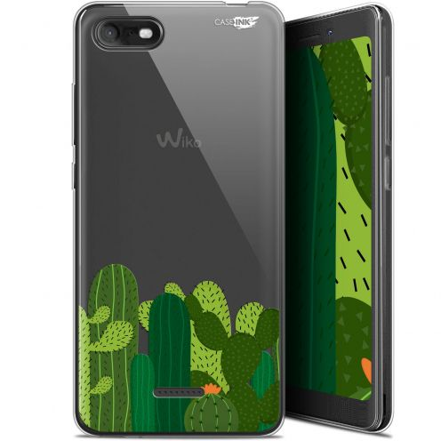"Carcasa Gel Extra Fina Wiko Tommy 3 (5.45"") Design Cactus"