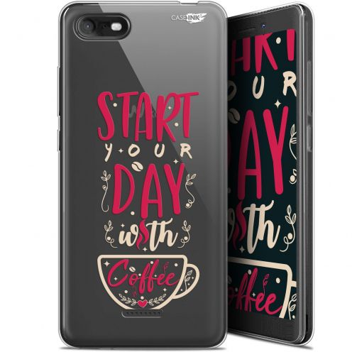 """Carcasa Gel Extra Fina Wiko Tommy 3 (5.45"""") Design Start With Coffee"""