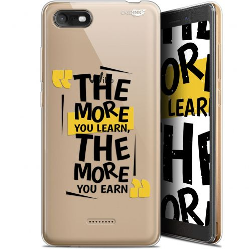 """Carcasa Gel Extra Fina Wiko Tommy 3 (5.45"""") Design The More You Learn"""