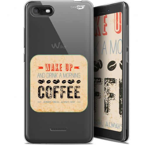 "Carcasa Gel Extra Fina Wiko Tommy 3 (5.45"") Design Wake Up With Coffee"