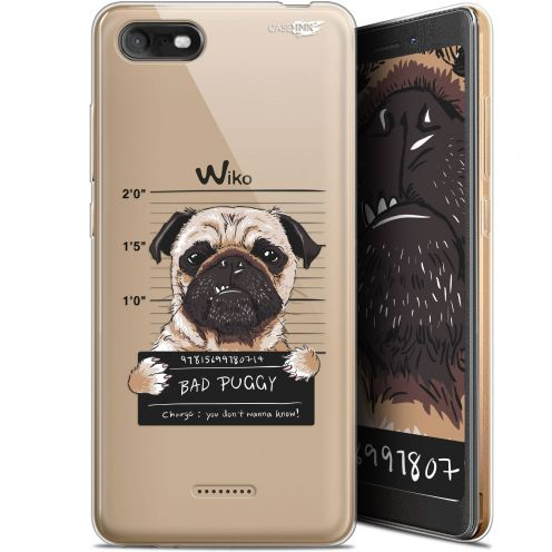 """Carcasa Gel Extra Fina Wiko Tommy 3 (5.45"""") Design Beware The Puggy Dog"""