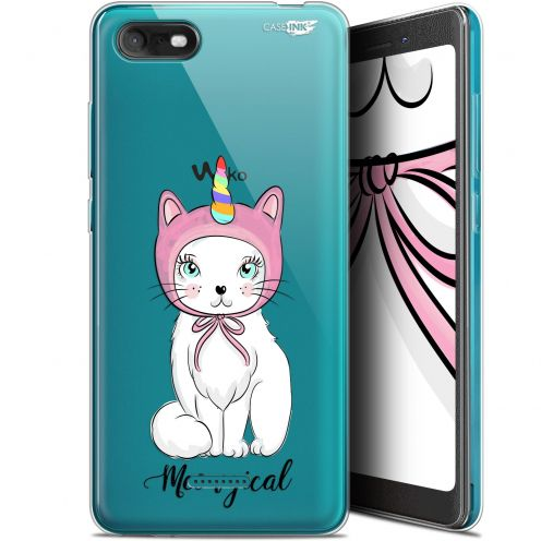 """Carcasa Gel Extra Fina Wiko Tommy 3 (5.45"""") Design Ce Chat Est MEOUgical"""