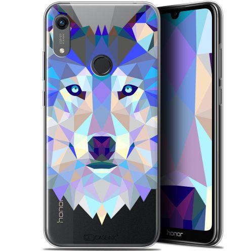 "Carcasa Gel Extra Fina Huawei Honor 8A (6.1"") Polygon Animals Lobo"