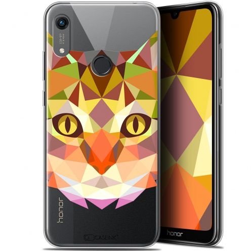 "Carcasa Gel Extra Fina Huawei Honor 8A (6.1"") Polygon Animals Gato"