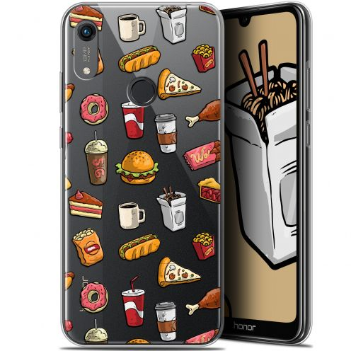 "Carcasa Gel Extra Fina Huawei Honor 8A (6.1"") Foodie Fast Food"
