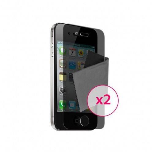 Films de protección privacidad antideslumbrante iPhone 4 / 4S Clubcase ® set de 2