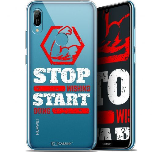 """Carcasa Gel Extra Fina Huawei Y6 2019 (6.1"""") Quote Start Doing"""