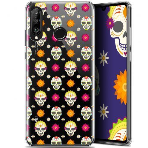 "Carcasa Gel Extra Fina Huawei P30 Lite (6.2"") Halloween Skull Halloween"