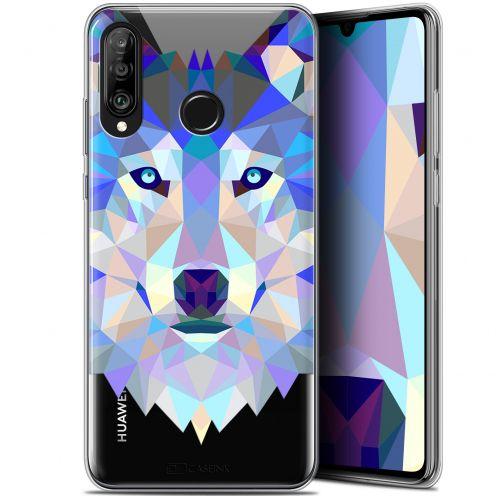 "Carcasa Gel Extra Fina Huawei P30 Lite (6.2"") Polygon Animals Lobo"