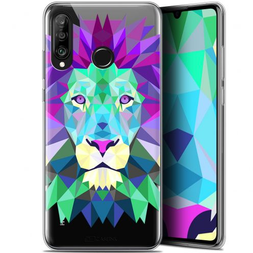 "Carcasa Gel Extra Fina Huawei P30 Lite (6.2"") Polygon Animals León"