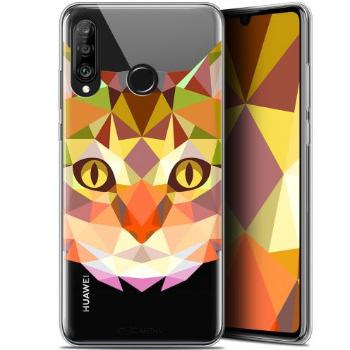 "Carcasa Gel Extra Fina Huawei P30 Lite (6.2"") Polygon Animals Gato"
