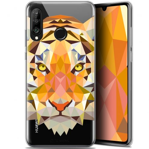 "Carcasa Gel Extra Fina Huawei P30 Lite (6.2"") Polygon Animals Tigre"