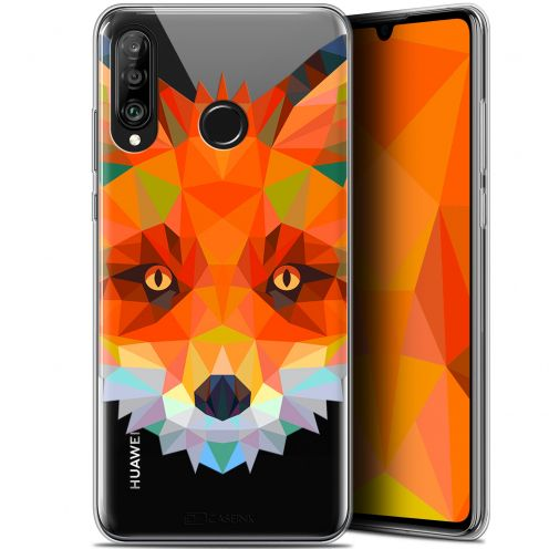 "Carcasa Gel Extra Fina Huawei P30 Lite (6.2"") Polygon Animals Zorro"