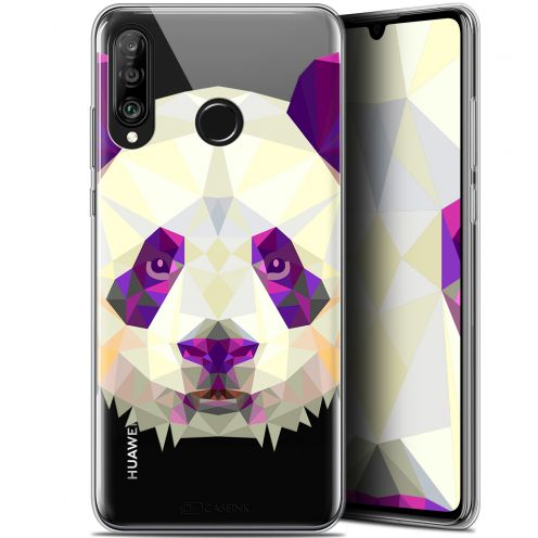 "Carcasa Gel Extra Fina Huawei P30 Lite (6.2"") Polygon Animals Panda"