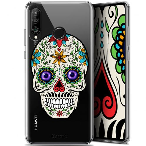 "Carcasa Gel Extra Fina Huawei P30 Lite (6.2"") Skull Maria's Flower"