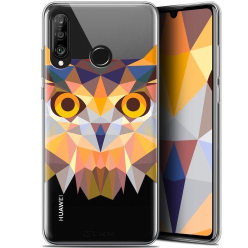 "Carcasa Gel Extra Fina Huawei P30 Lite (6.2"") Polygon Animals Búho"