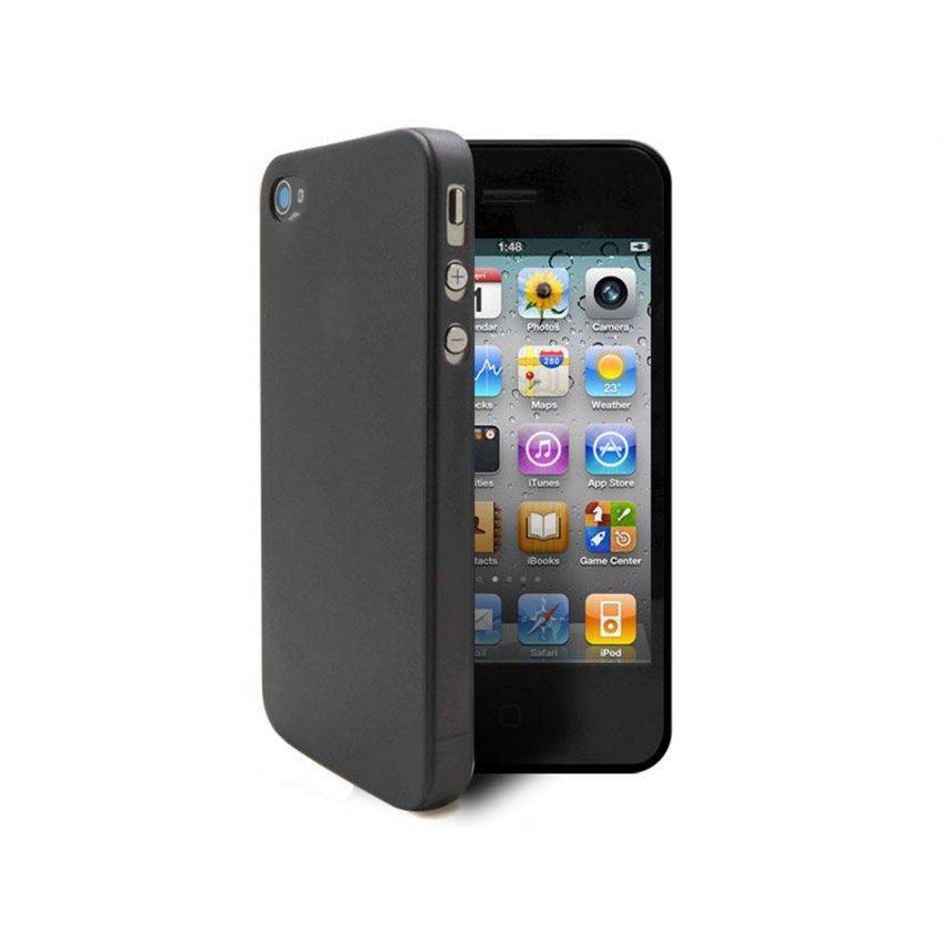 Shell Ultra fino 0.3mm Frost iPhone 4 / 4 S Black