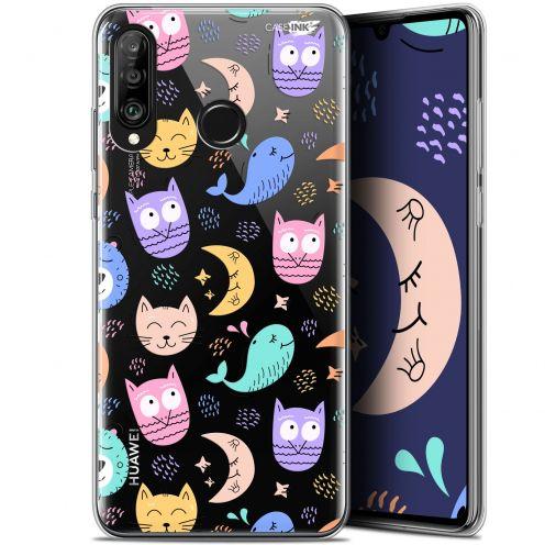 "Carcasa Gel Extra Fina Huawei P30 Lite (6.2"") Design Chat Hibou"