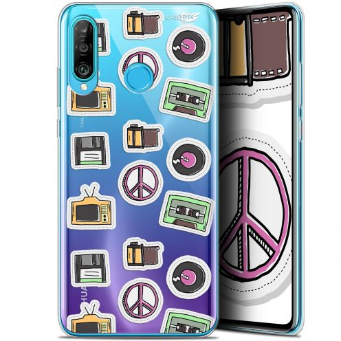 "Carcasa Gel Extra Fina Huawei P30 Lite (6.2"") Design Vintage Stickers"