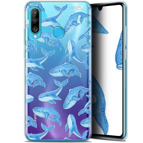 "Carcasa Gel Extra Fina Huawei P30 Lite (6.2"") Design Baleines"