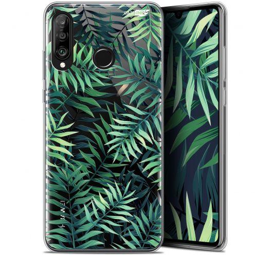 "Carcasa Gel Extra Fina Huawei P30 Lite (6.2"") Design Feuilles des Tropiques"