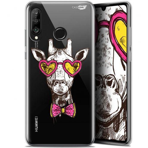 """Carcasa Gel Extra Fina Huawei P30 Lite (6.2"""") Design Hipster Giraffe"""