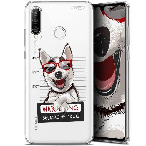 "Carcasa Gel Extra Fina Huawei P30 Lite (6.2"") Design Beware The Husky Dog"