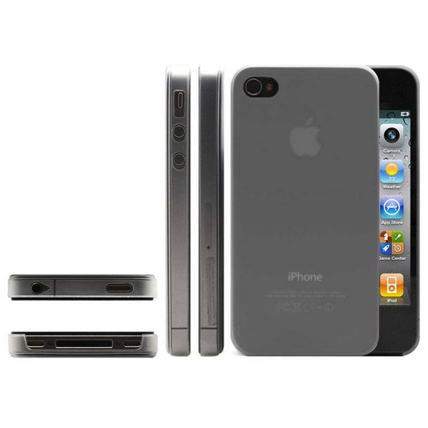 Shell Ultra fino 0.3mm Frost iPhone 4 / 4 S gris