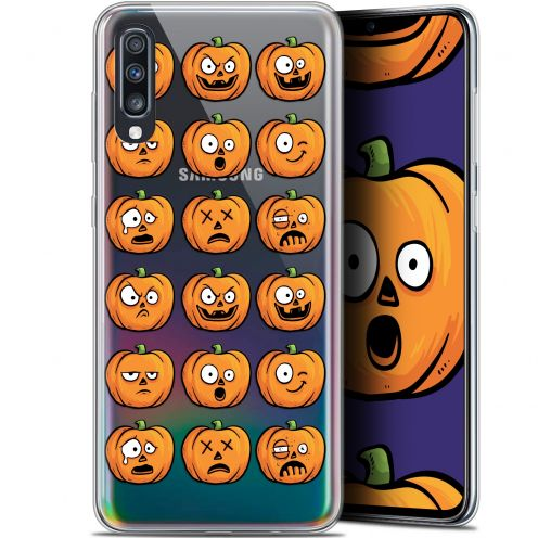 "Carcasa Gel Extra Fina Samsung Galaxy A70 (6.7"") Halloween Cartoon Citrouille"