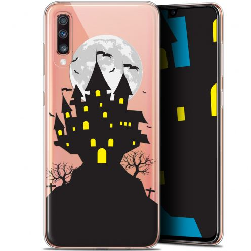 "Carcasa Gel Extra Fina Samsung Galaxy A70 (6.7"") Halloween Castle Scream"