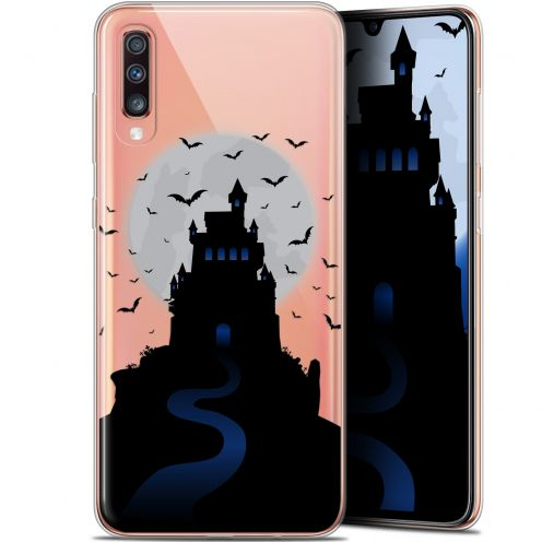 "Carcasa Gel Extra Fina Samsung Galaxy A70 (6.7"") Halloween Castle Nightmare"