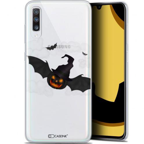 "Carcasa Gel Extra Fina Samsung Galaxy A70 (6.7"") Halloween Chauve Citrouille"
