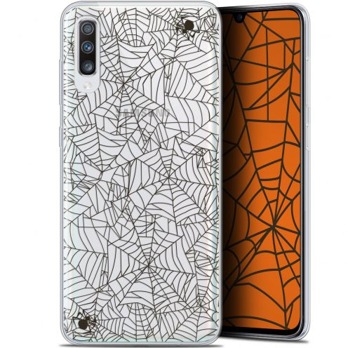 "Carcasa Gel Extra Fina Samsung Galaxy A70 (6.7"") Halloween Spooky Spider"